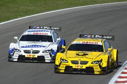Dirk Werner, BMW Team Schnitzer BMW M3 DTM, versus Timo Glock, BMW Team MTEK BMW M3 DTM