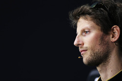 Romain Grosjean, Lotus F1 Team i the FIA Press Conference