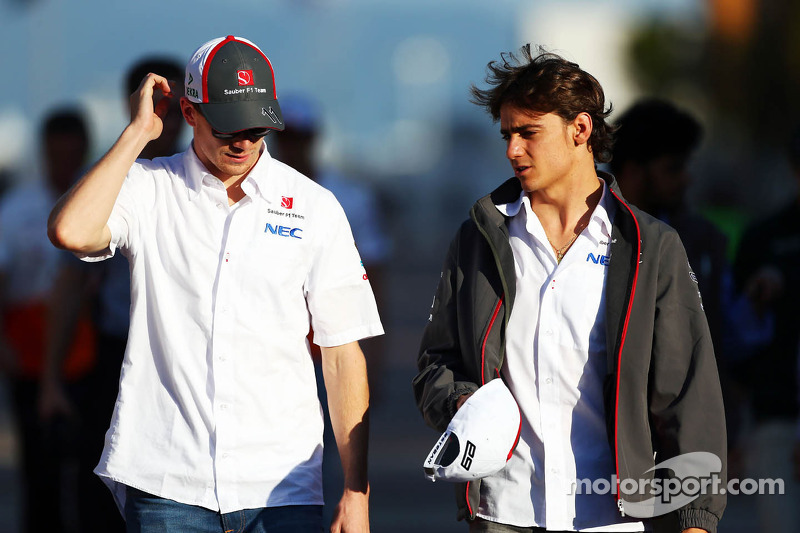 Nico Hulkenberg, Sauber with team mate Esteban Gutierrez, Sauber