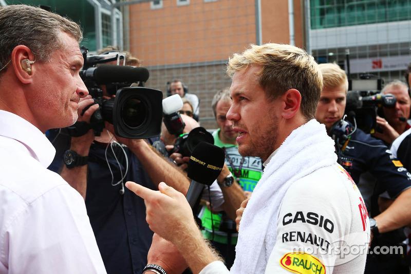 (L naar R): David Coulthard, Red Bull Racing en Scuderia Toro Advisor / BBC-commentator met Sebastia