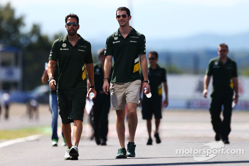 Alexander Rossi, Caterham F1 Reserve Driver, walks the circuit