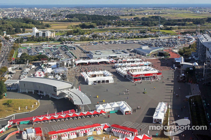 An aerial view of the circuit and surrounding area