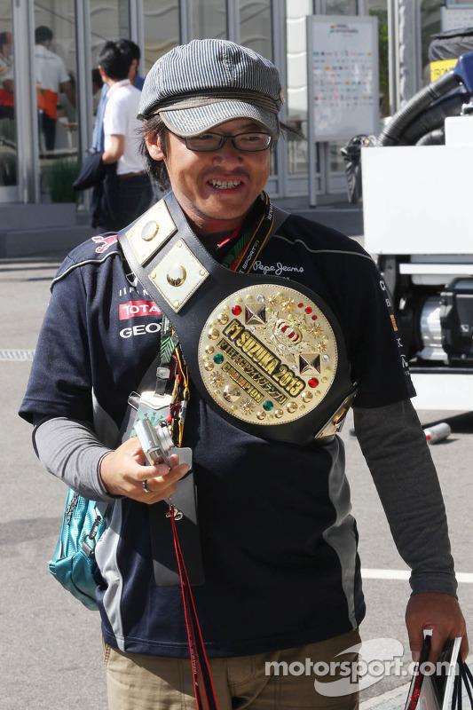 A Red Bull Racing fan