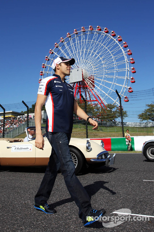 Pastor Maldonado, Williams no desfile de pilotos