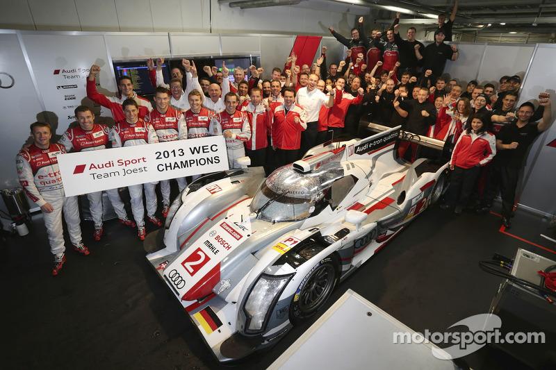2013 kampioenen #2 Audi Sport Team Joest Audi R18 e-tron quattro: Tom Kristensen, Allan McNish, Loic
