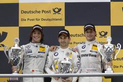 Podium, 2nd Roberto Merhi, Mercedes AMG DTM-Team HWA DTM Mercedes AMG C-Coupe, 1st Timo Glock, BMW Team MTEK BMW M3 DTM, 3rd Bruno Spengler, BMW Team Schnitzer BMW M3 DTM