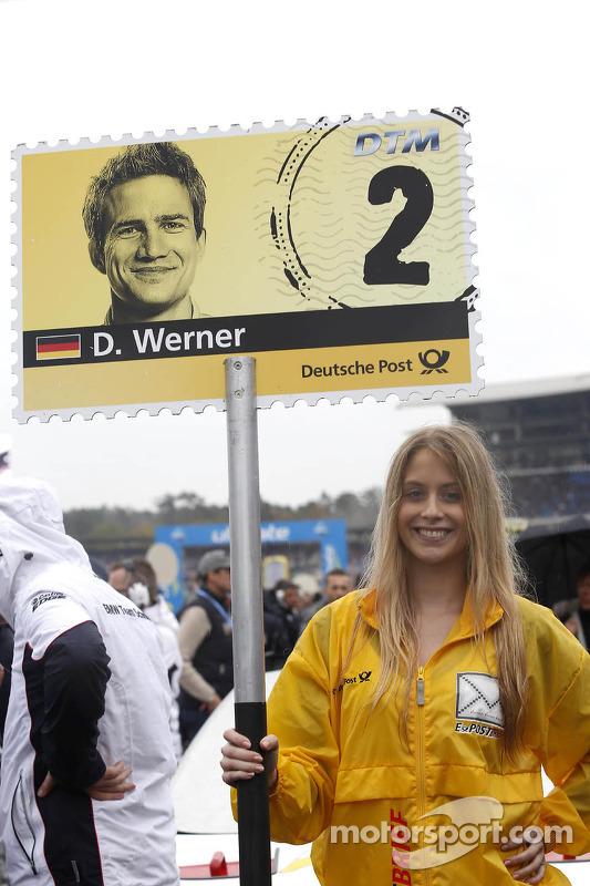 Grid girl de Dirk Werner, BMW Team Schnitzer BMW M3 DTM