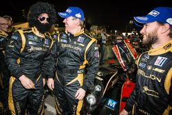 Rebellion Racing team members celebrate with Nick Heidfeld
