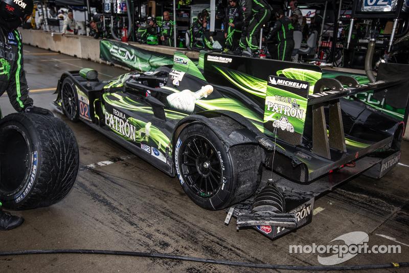 Schade aan de #02 Extreme Speed Motorsports HPD ARX-03b HPD: Ed Brown, Johannes van Overbeek, Rob Be