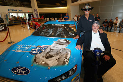 2014 NASCAR Hall of Fame inductee Maurice Petty with Richard Petty