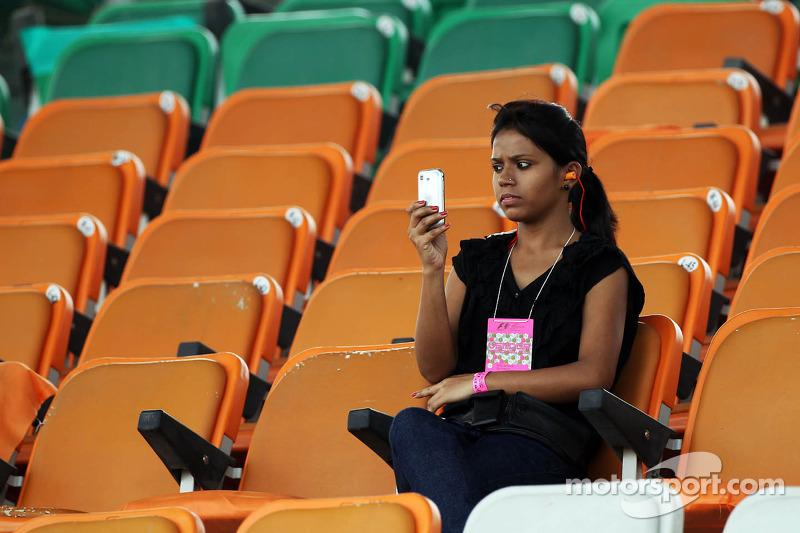 Een fan op de tribune