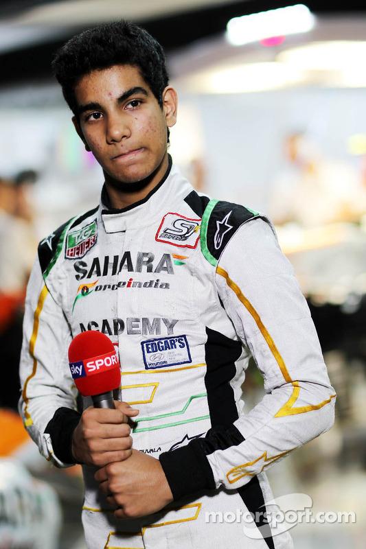 Jehan Daruvala, Academa de pilotos da Sahara Force India, vencedor do campeonato britânico de Kart