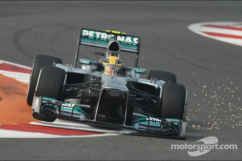 F1, Noida 2013: Lewis Hamilton, Mercedes F1 W04