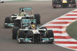 Lewis Hamilton, Mercedes AMG F1 W04 y Nico Rosberg, Mercedes AMG F1 W04