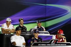 Adrian Sutil, Sahara Force India F1; Romain Grosjean, Lotus F1 Team; Valtteri Bottas, Williams; Lewi