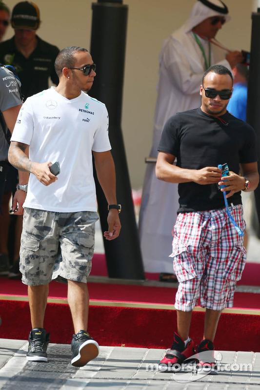 Lewis Hamilton, Mercedes AMG F1 com o irmão Nicolas Hamilton