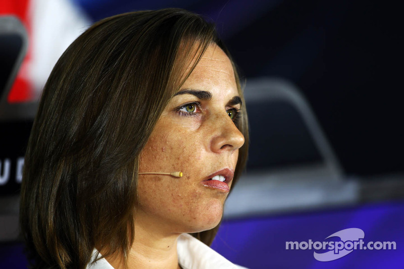 Claire Williams, Adjunct-teambaas Williams bij de FIA-persconferentie