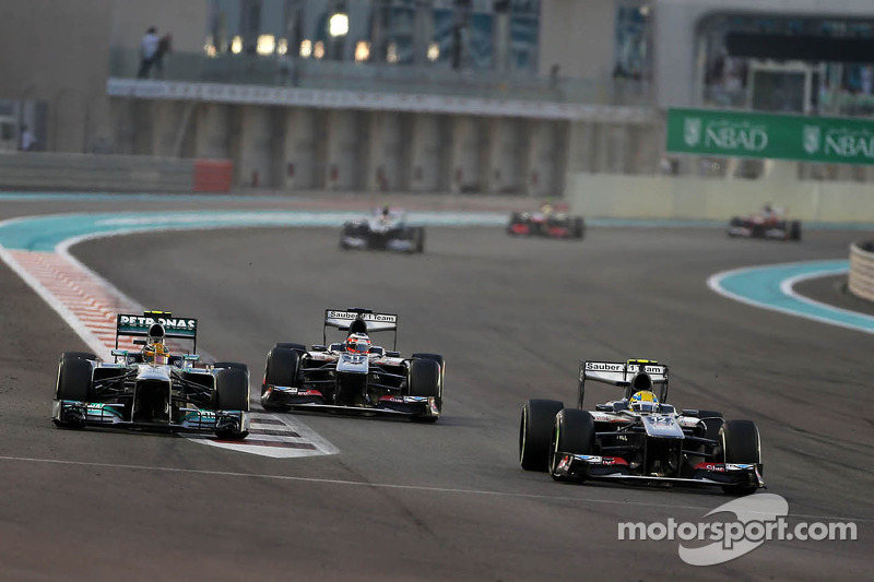 Lewis Hamilton, Mercedes Grand Prix and Esteban Gutierrez, Sauber F1 Team