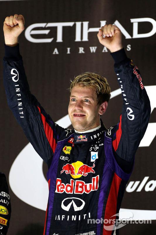 O vencedor Sebastian Vettel, Red Bull Racing