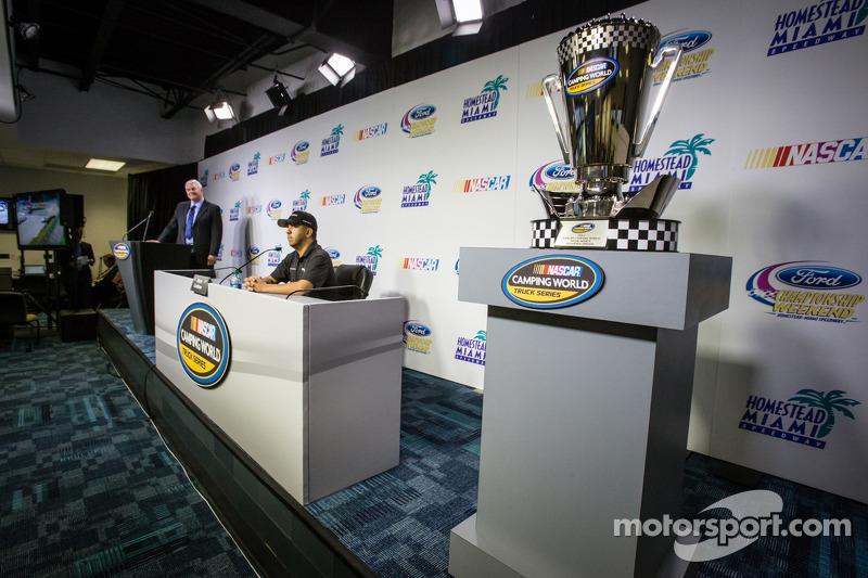 Persconferentie titelfavorieten:  NASCAR Camping World Truck Series kanshebber Matt Crafton