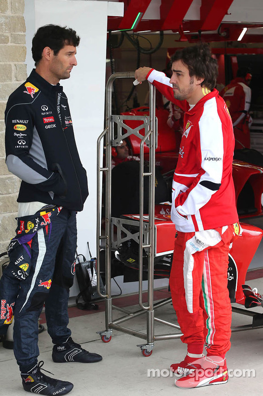 Mark Webber, Red Bull Racing e Fernando Alonso, Scuderia Ferrari