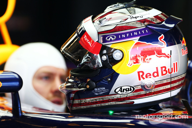 The helmet of Sebastian Vettel, Red Bull Racing RB9