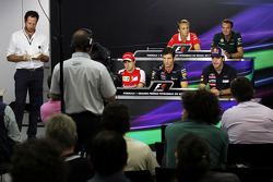 The FIA Press Conference: Max Chilton, Marussia F1 Team; Giedo van der Garde, Caterham F1 Team; Felipe Massa, Ferrari; Mark Webber, Red Bull Racing; Jean-Eric Vergne, Scuderia Toro Rosso