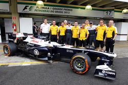 Valtteri Bottas, Williams e Pastor Maldonado, Williams em foto da equipe