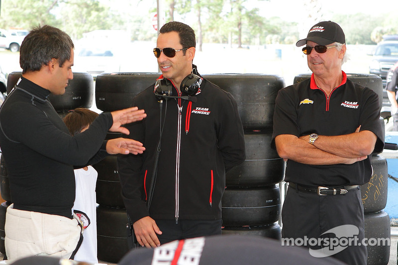 Juan Pablo Montoya, Helio Castroneves and Rick Mears