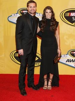 Ricky Stenhouse Jr. and Danica Patrick arrive on the red carpet