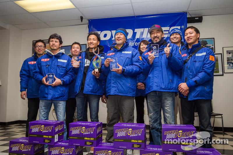 Klasse-winnaars #95 Team SPOON honda CR-Z: Naoki Hattori, Tatsuru Ichishima, Hidetoshi Mitsusada, Da