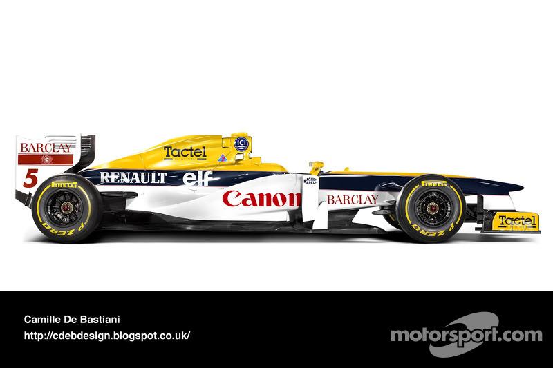 Formel-1-Auto im Retrodesign: Williams 1989