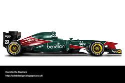Formel-1-Auto im Retrodesign: Alfa Romeo 1985