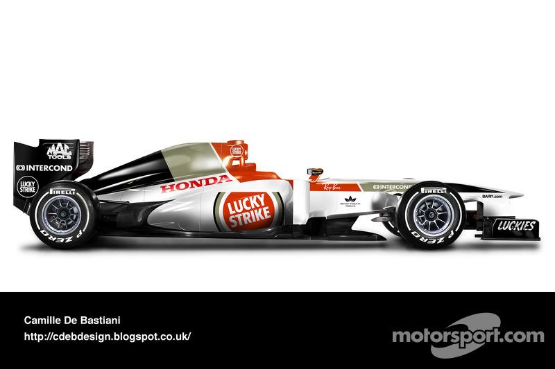 Formel-1-Auto im Retrodesign: BAR 2004