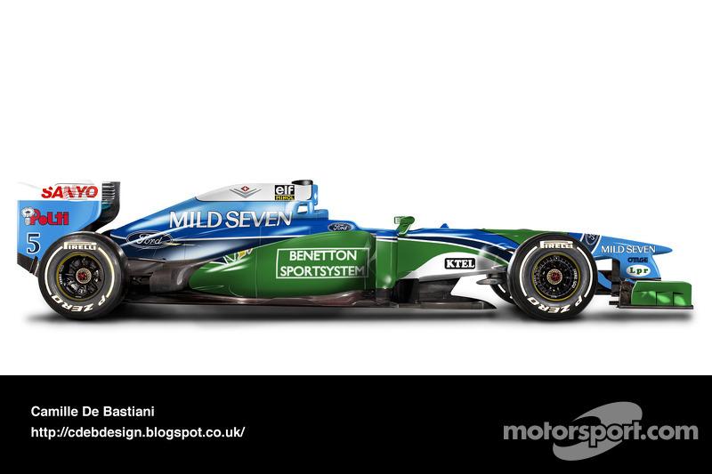 Formel-1-Auto im Retrodesign: Benetton 1994