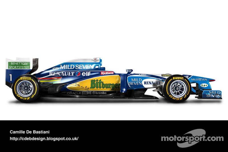 Formel-1-Auto im Retrodesign: Benetton 1995