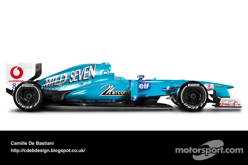 Carro de F1 retrô - Benetton 2001