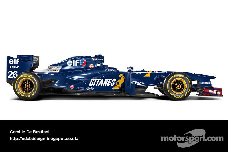 Carro de F1 retrô - Ligier 1995