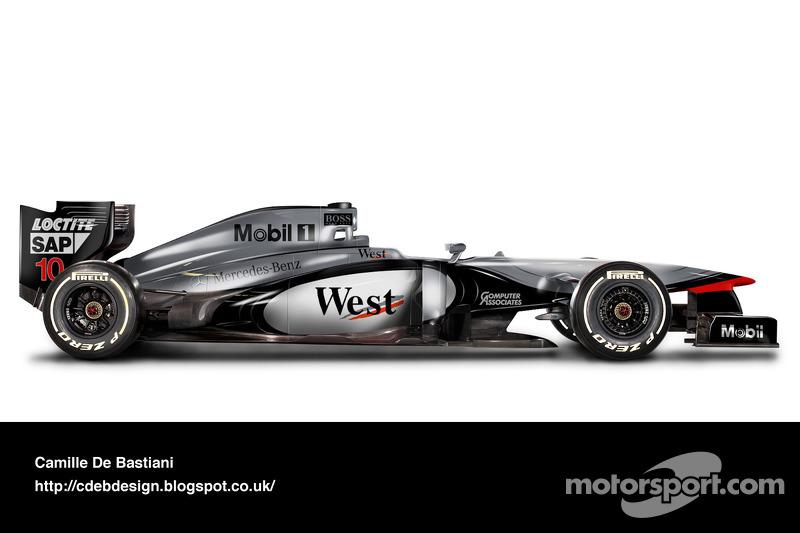 Carro de F1 retrô - McLaren 1997