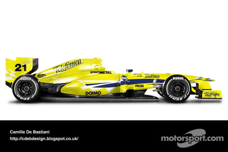 Auto Retro F1 - Minardi 2000
