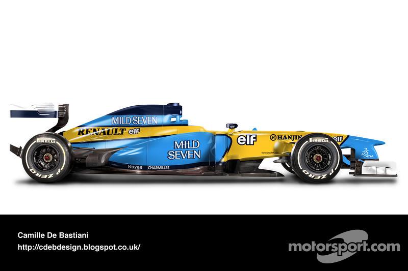 Carro de F1 retrô - Renault 2002