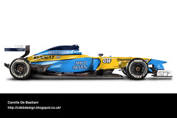 Retro F1 car - Renault 2002