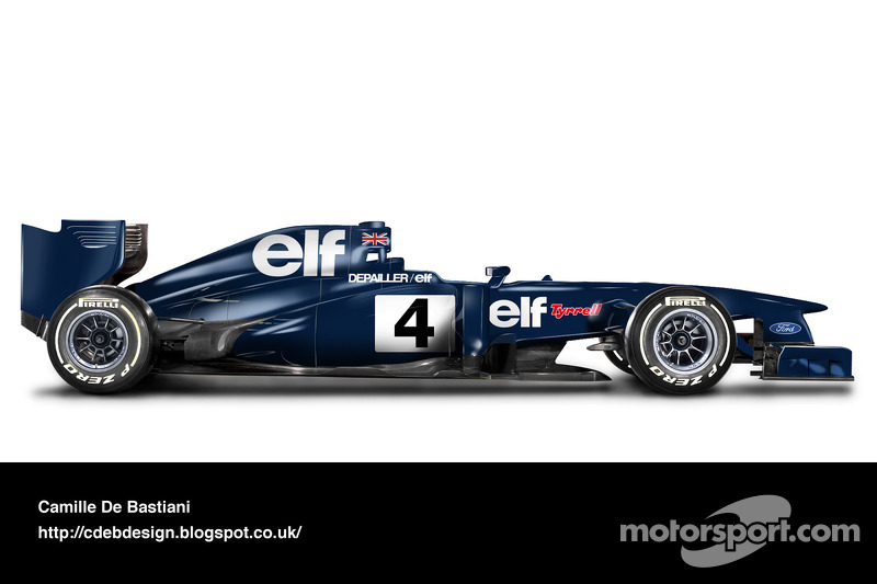 Formel-1-Auto im Retrodesign: Tyrrell 1974