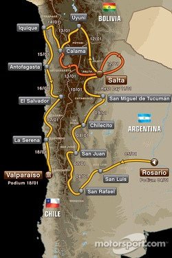The 2014 Dakar route