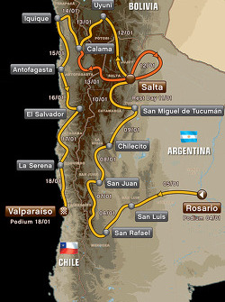 The 2014 Dakar route