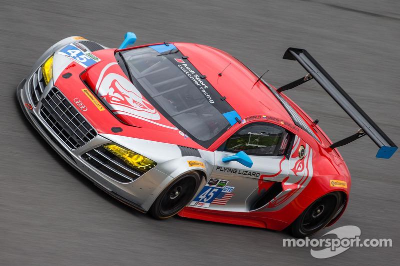 #45 Flying Lizard Motorsports 奥迪 R8 LMS: 尼尔森·卡纳切, 斯潘瑟·庞佩利, 蒂姆·帕帕斯, 马库斯·温克霍克