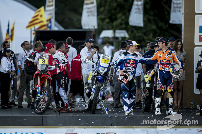 Cyril Despres, Marc Coma ve Joan Barreda