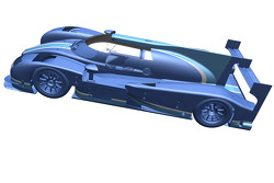 Computer rendering of a Perrinn LM P1 concept