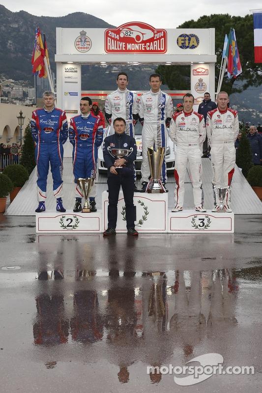 Sébastien Ogier et Julien Ingrassia, Bryan Bouffier et Xavier Panseri, Kris Meeke et Paul Nagle