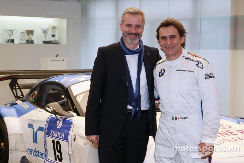 Jens Marquardt, responsabile di BMW Motorsport e Alex Zanardi annuncia il suo ritorno alle gare con